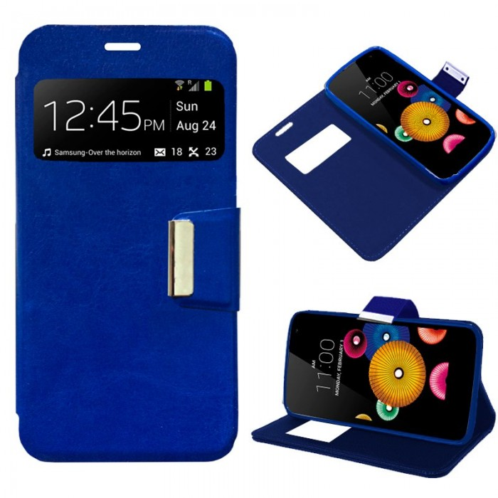 Funda Flip Cover LG K4 Liso Azul