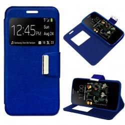 Funda Flip Cover LG K5 Liso Azul