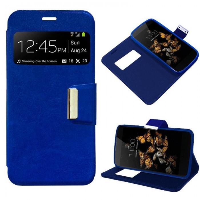 Funda Flip Cover LG K8 Liso Azul