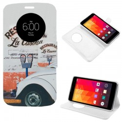 Funda Flip Cover LG Leon Dibujos Car