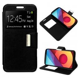 Funda Flip Cover LG Q6 / Q6 Alpha / Q6 Plus Liso Negro