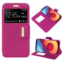 Funda Flip Cover LG Q6 / Q6 Alpha / Q6 Plus Liso Rosa