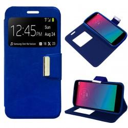 Funda Flip Cover LG Spirit Liso Azul