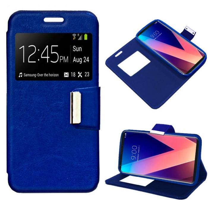 Funda Flip Cover LG V30 Liso Azul