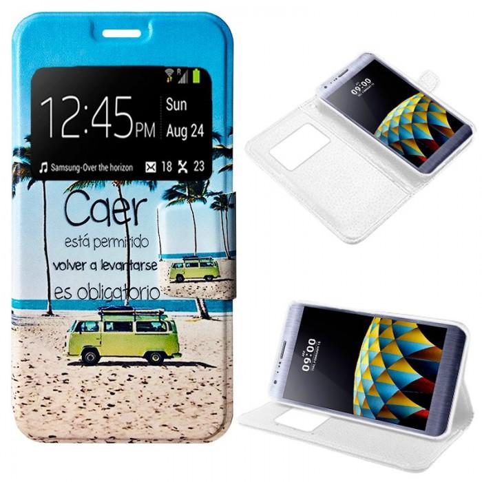 Funda Flip Cover LG X Cam Dibujos Beach