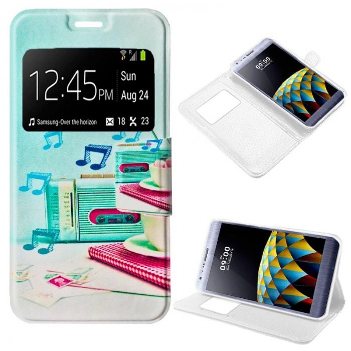 Funda Flip Cover LG X Cam Dibujos Music