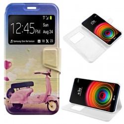 Funda Flip Cover LG X Power Dibujos Moto