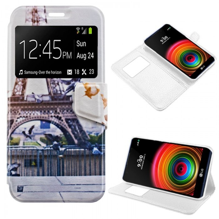 Funda Flip Cover LG X Power Dibujos Paris