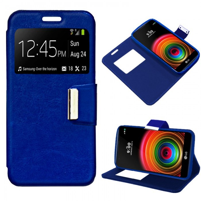 Funda Flip Cover LG X Power Liso Azul