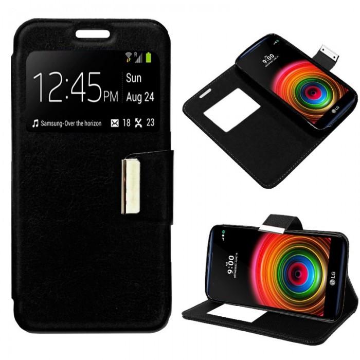 Funda Flip Cover LG X Power Liso Negro