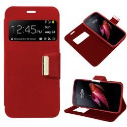 Funda Flip Cover LG X Screen Liso Rojo