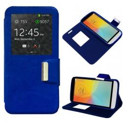 Funda Flip Cover LG X150 (L Bello II) Liso Azul