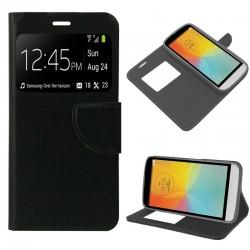 Funda Flip Cover LG X150 (L Bello II) Liso Negro
