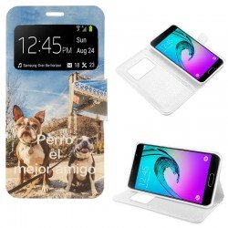 Funda Flip Cover Samsung A310 Galaxy A3 (2016) Dibujos Dog
