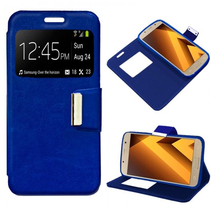 e0918b56650 Funda Flip Cover Samsung A320 Galaxy A3 (2017) Liso Azul - Smarty ...