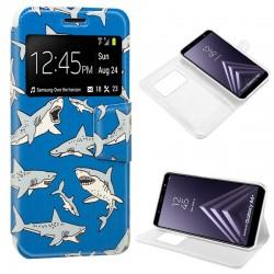 Funda Flip Cover Samsung A605 Galaxy A6 Plus Dibujos Tiburón