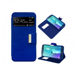 Funda Flip Cover Samsung G925F Galaxy S6 Edge Liso Azul
