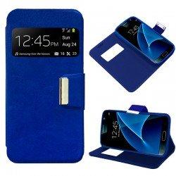 Funda Flip Cover Samsung G930 Galaxy S7 Liso Azul