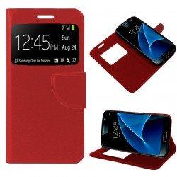 Funda Flip Cover Samsung G930 Galaxy S7 Liso Rojo