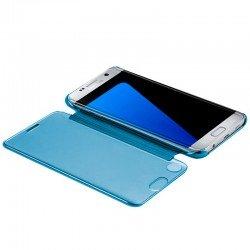 Funda Flip Cover Samsung G935 Galaxy S7 Edge Clear View Azul