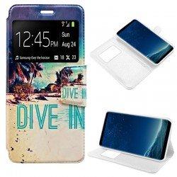 Funda Flip Cover Samsung G950 Galaxy S8 Dibujos Beach