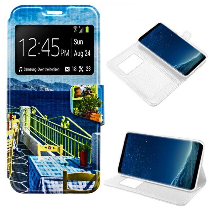 Funda Flip Cover Samsung G955 Galaxy S8 Plus Dibujos Beach