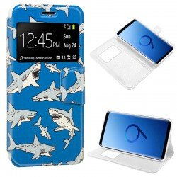 Funda Flip Cover Samsung G960 Galaxy S9 Dibujos Tiburón