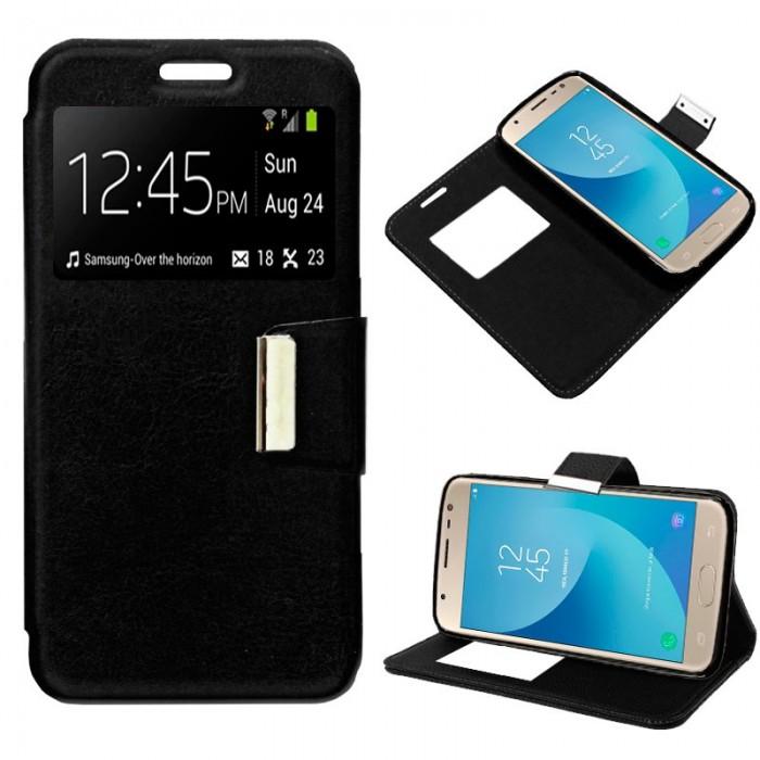 Funda Flip Cover Samsung J330 Galaxy J3 (2017) Liso Negro