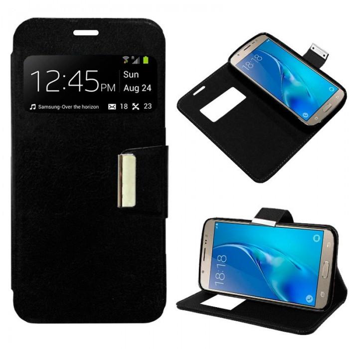 a852b35db1e Últimas únidades Funda Flip Cover Samsung J510 Galaxy J5 (2016) Liso Negro