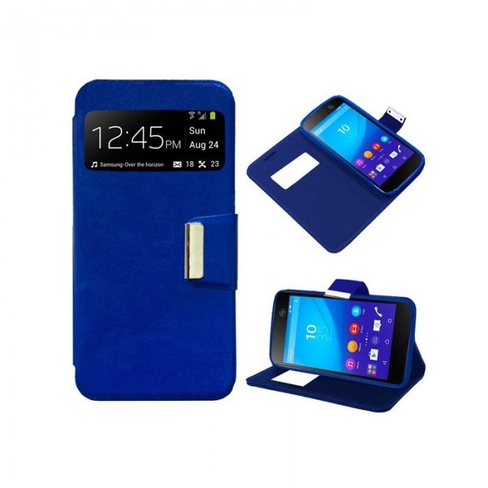 Funda Flip Cover Sony Xperia M5 Liso Azul