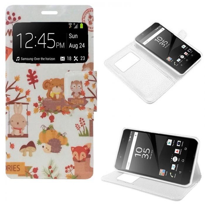 Funda Flip Cover Sony Xperia Z5 Compact Dibujos Animales