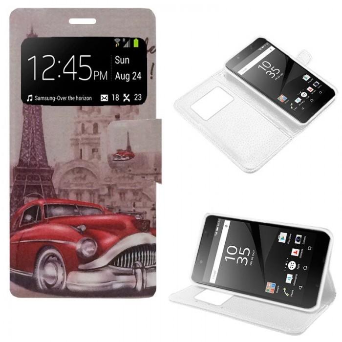 Funda Flip Cover Sony Xperia Z5 Compact Dibujos Car