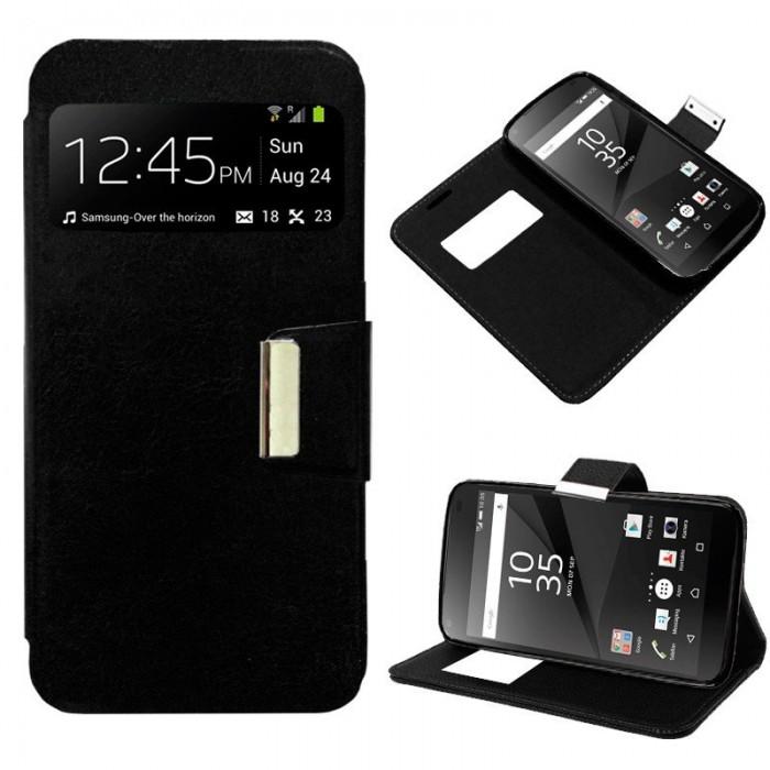 Funda Flip Cover Sony Xperia Z5 Compact Liso Negro
