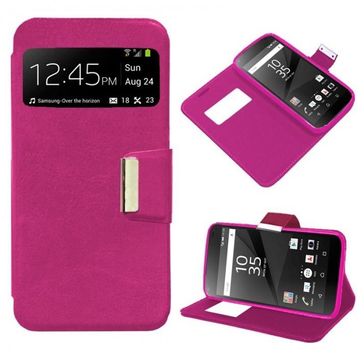 Funda Flip Cover Sony Xperia Z5 Compact Liso Rosa