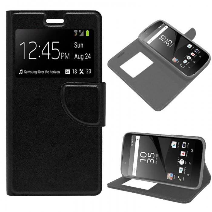 Funda Flip Cover Sony Xperia Z5 Liso Negro
