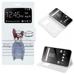Funda Flip Cover Sony Xperia Z5 Premium Dibujos Dog