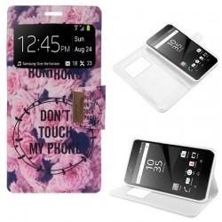 Funda Flip Cover Sony Xperia Z5 Premium Dibujos Flores