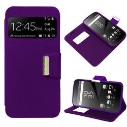 Funda Flip Cover Sony Xperia Z5 Premium Liso Violeta