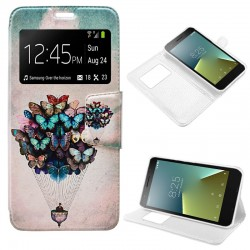 Funda Flip Cover Vodafone Smart E8 Dibujos Mariposas
