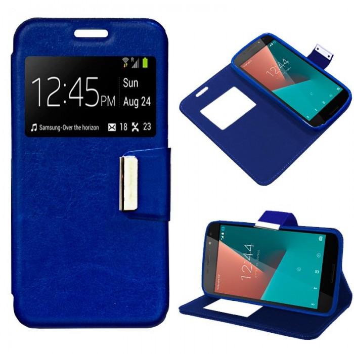 Funda Flip Cover Vodafone Smart N8 Liso Azul