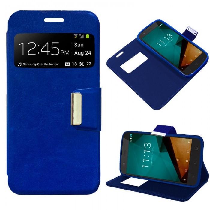 Funda Flip Cover Vodafone Smart Prime 7 Liso Azul