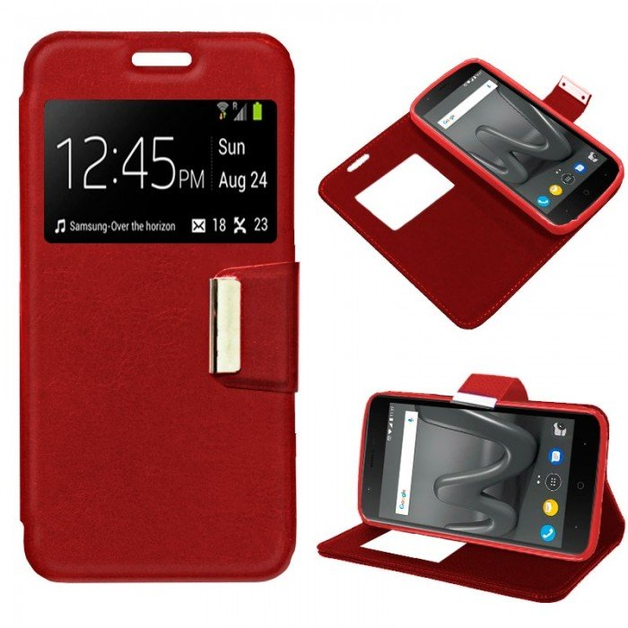 Funda Flip Cover Wiko Harry Liso Rojo