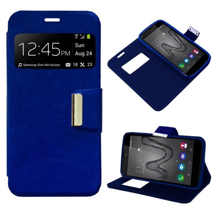 Funda Flip Cover Wiko Robby Liso Azul