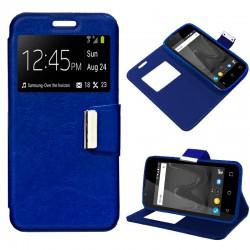 Funda Flip Cover Wiko Sunny 2 Liso Azul