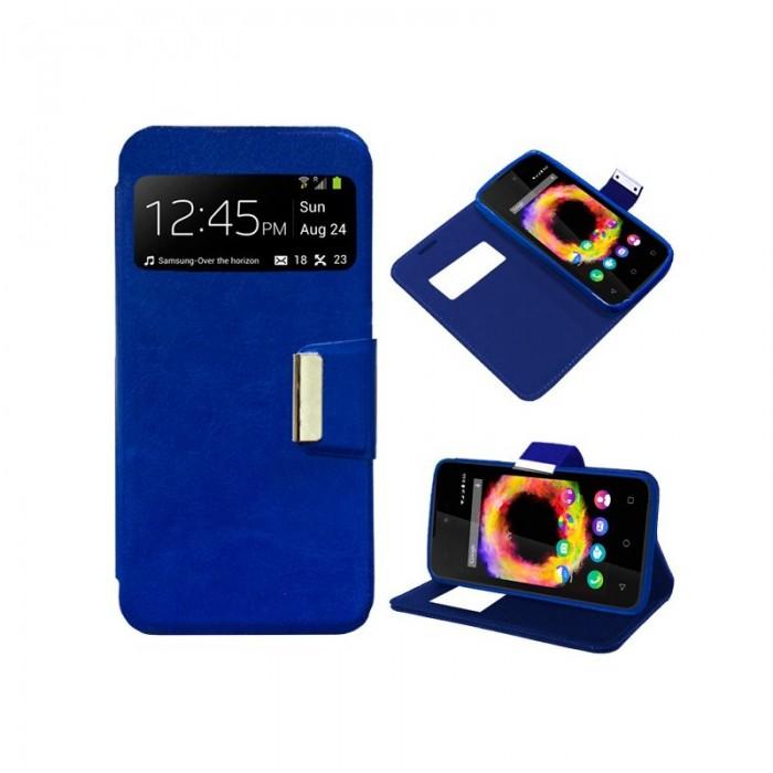 Funda Flip Cover Wiko Sunset 2 / Sunny Liso Azul