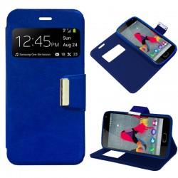 Funda Flip Cover Wiko U Feel Lite Liso Azul