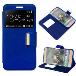 Funda Flip Cover Wiko U Feel Prime Liso Azul