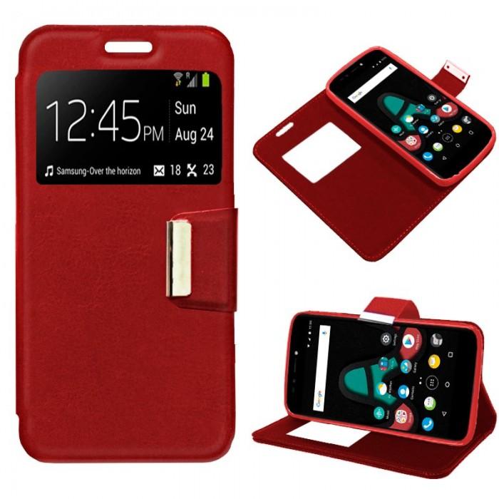 Funda Flip Cover Wiko U Pulse Liso Rojo