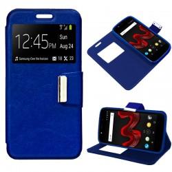 Funda Flip Cover Wiko Wim Lite Liso Azul