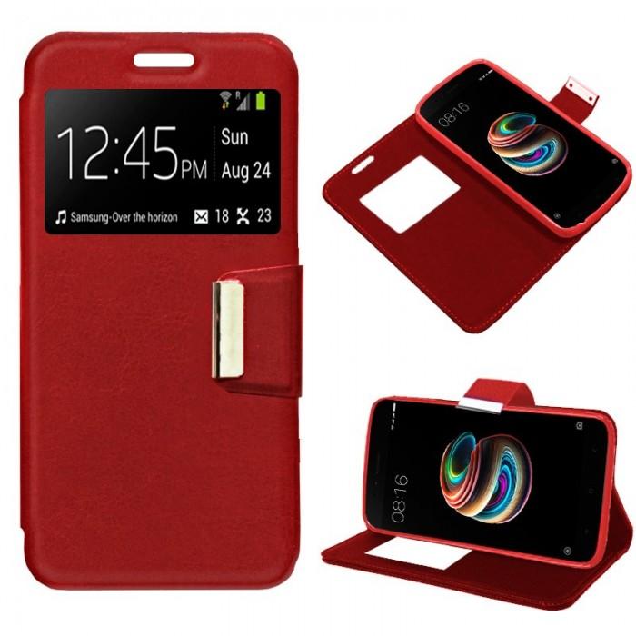 Funda Flip Cover Xiaomi Mi A1 / Mi 5X Liso Rojo